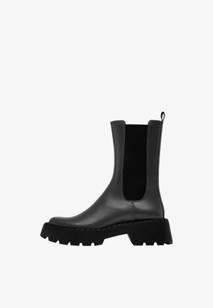 FLACHE MIT PROFILSOHLE - Classic ankle boots - grey