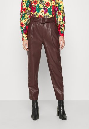 ARIA TROUSERS - Trousers - reddish brown