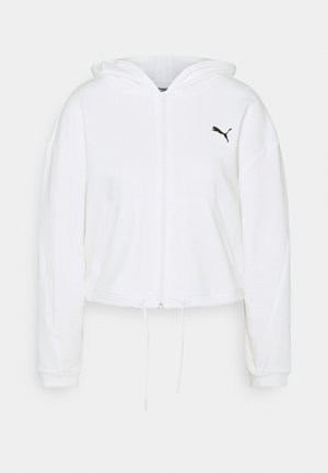 PAMELA REIF X PUMA COLLECTION FULL ZIP HOODIE - Hoodie met rits - star white