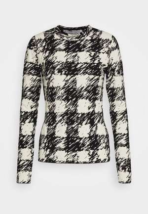 GINGHAM LONG SLEEVE - Maglione - black/cream