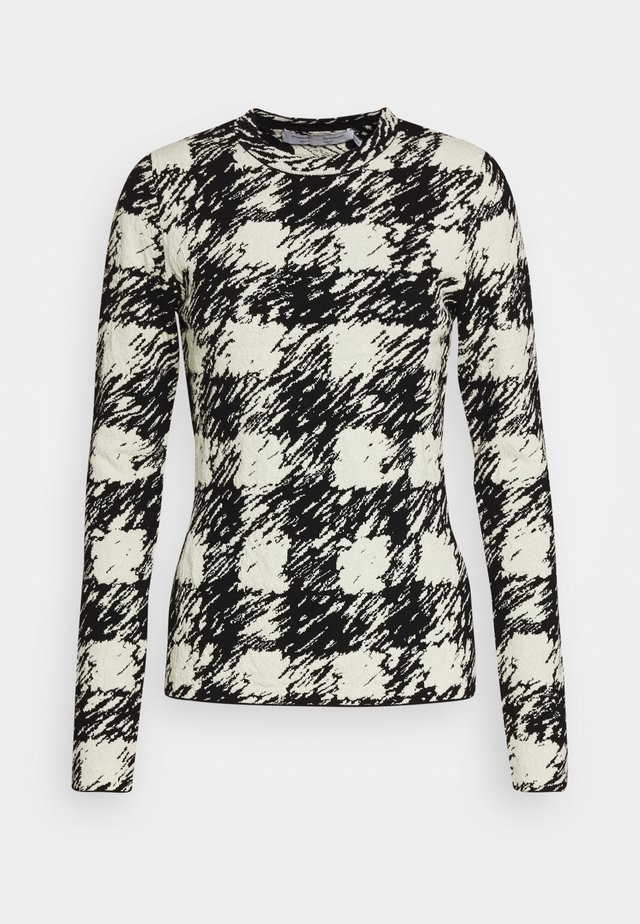 GINGHAM LONG SLEEVE - Trui - black/cream
