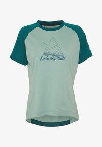 Zimtstern - PURE FLOWZ  - Print T-shirt - granite green/pacific green/blush - 3