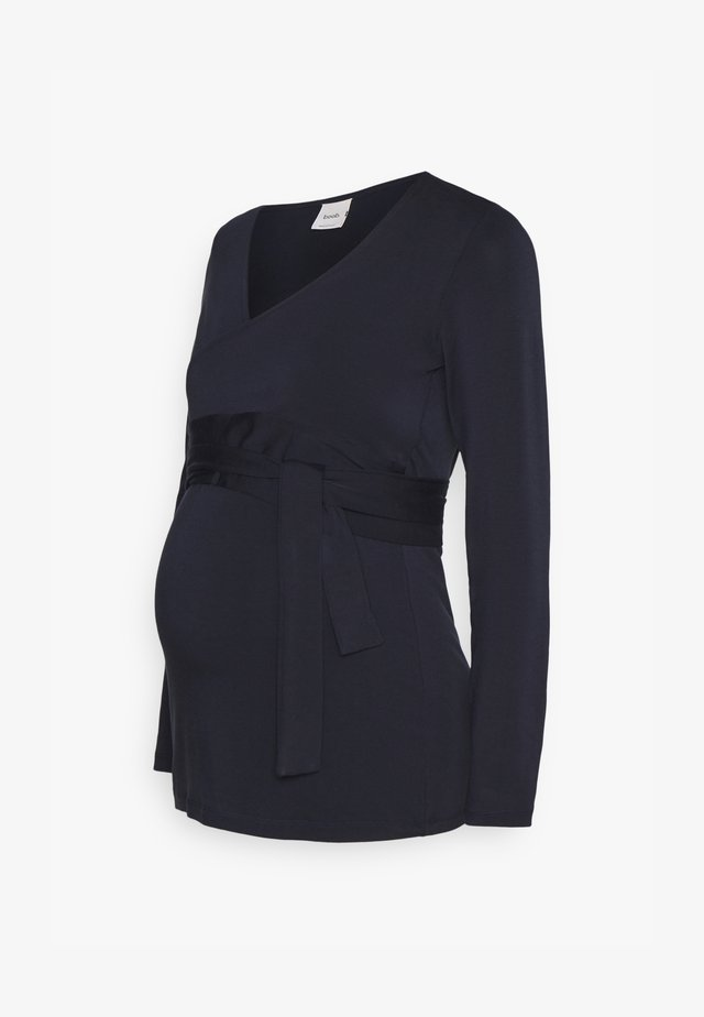 GISELLE WRAP - Long sleeved top - midnight blue