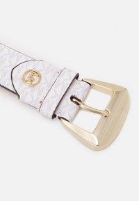 MICHAEL Michael Kors - LOGO BELT - Belt - optic white/luggage - 2