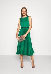 Closet - PLEATED DRESS - Day dress - forest green - 1