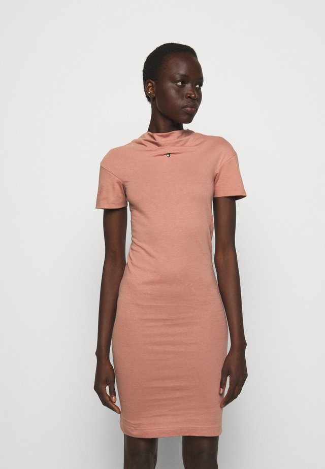 TUBE DRESS - Sukienka z dżerseju - dusty pink