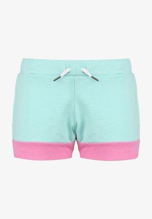 Pantalones montañeros cortos - green aqua / pink / white