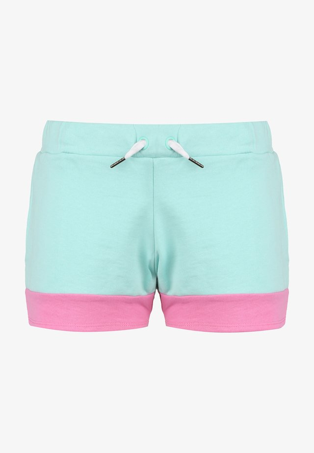 Shorts outdoor - green aqua / pink / white