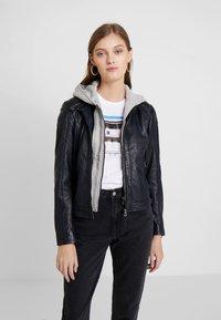 Gipsy - ANGY LAMAS - Leather jacket - dark navy - 0