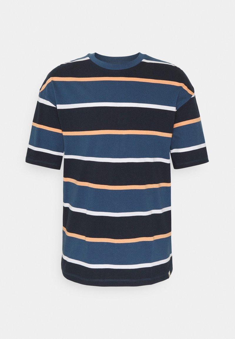 Jack & Jones - JORPALISADES STRIPE TEE CREW NECK - Print T-shirt - ensign blue