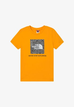 BOX TEE UNISEX - T-shirt med print - summit gold