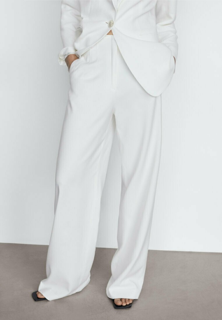 Massimo Dutti - Pantalon classique - white