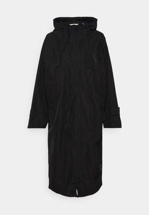 COAT DRAWSTRING WAIST - Vodotěsná bunda - black
