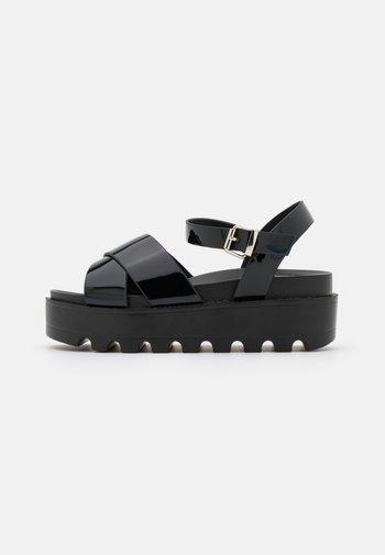 VEGAN ZINA - Platform sandals - black