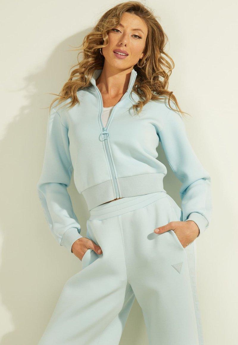 Guess - Zip-up sweatshirt - himmelblau
