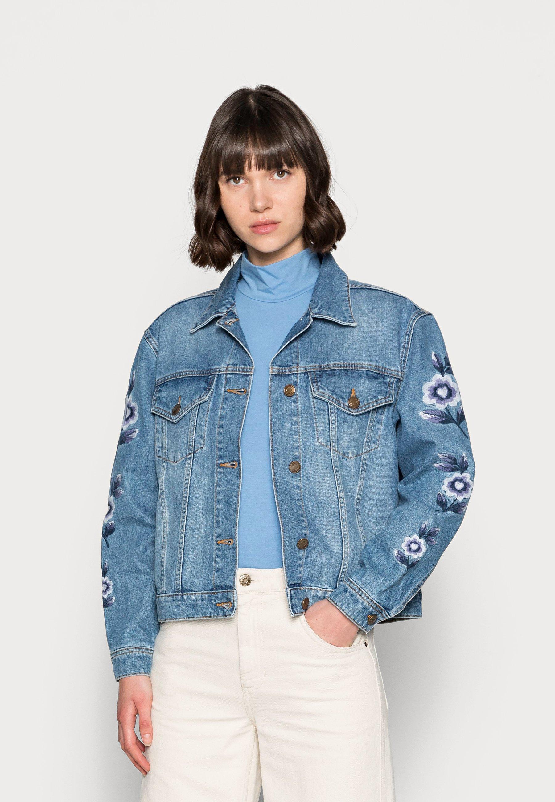 Femme CAMILLE EMBRO JACKET - Veste en jean