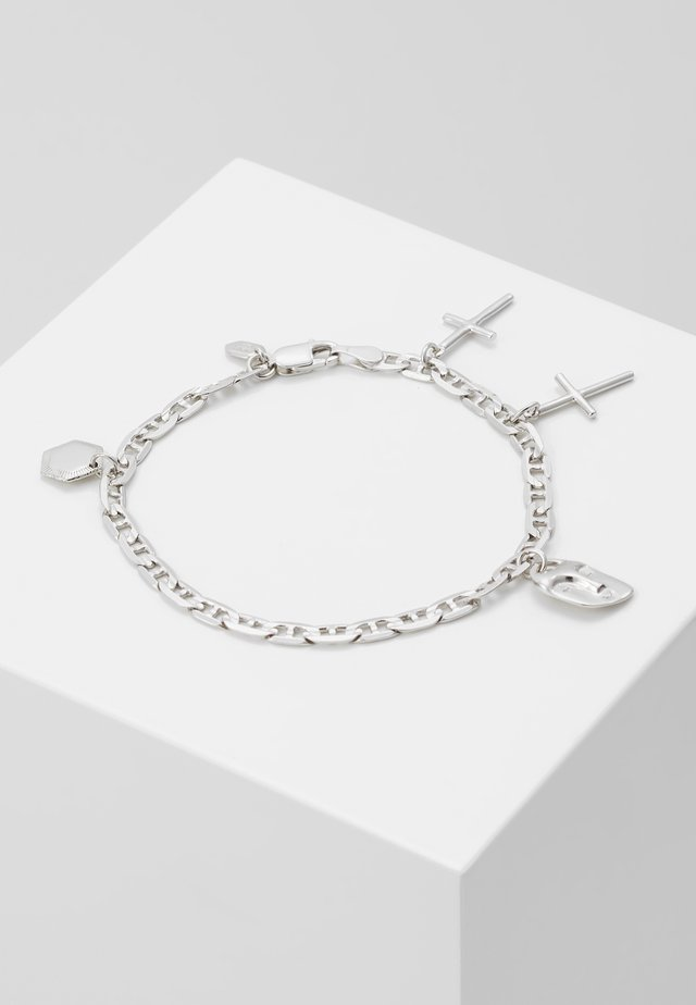 FRIEND CHARM BRACELET SMALL - Rannekoru - silver