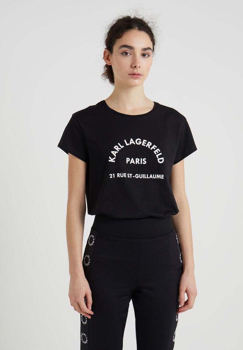 KARL LAGERFELD - ADDRESS TEE - Print T-shirt - black