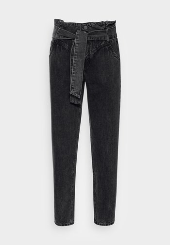 PAPERBAG - Straight leg jeans - black dark wash