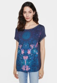 Desigual - Print T-shirt - blue - 0