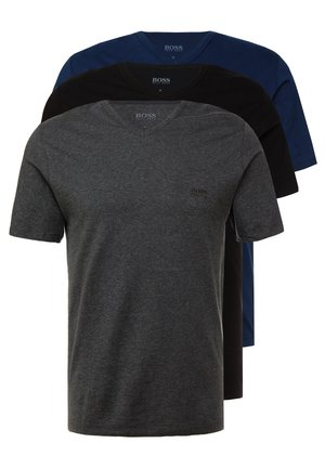 3 PACK - Undershirt - dark blue/mottled grey/black