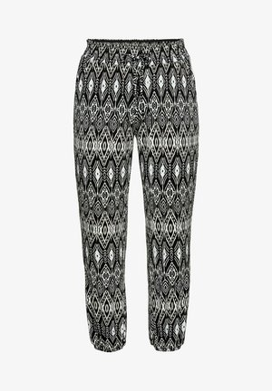 Trousers - schwarz taupe