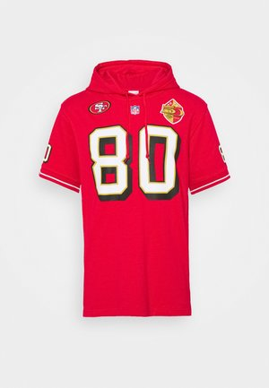 SAN FRANCISO JERRY RICE HOODED SHORT SLEEVE - Hoodie - red