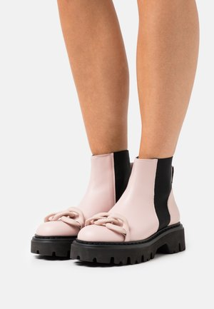 BOOTS - Platform ankle boots - nude