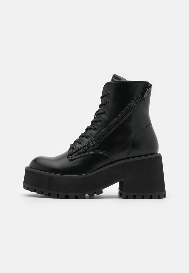 YELINA - Bottines à plateau - black