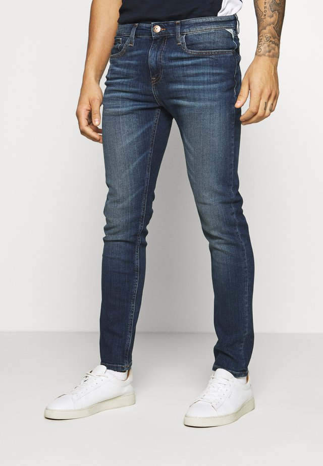 MILANO DESTROY - Slim fit jeans - blue denim