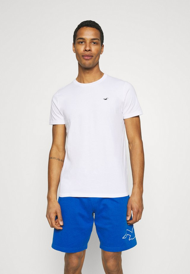 CREW SOLID - Camiseta básica - white