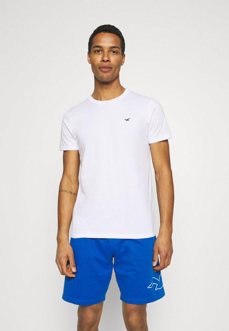 Hollister Co. - CREW SOLID - Basic T-shirt - white