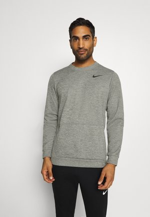 CREW STANDARD FIT - Sweatshirts - dark grey heather/black