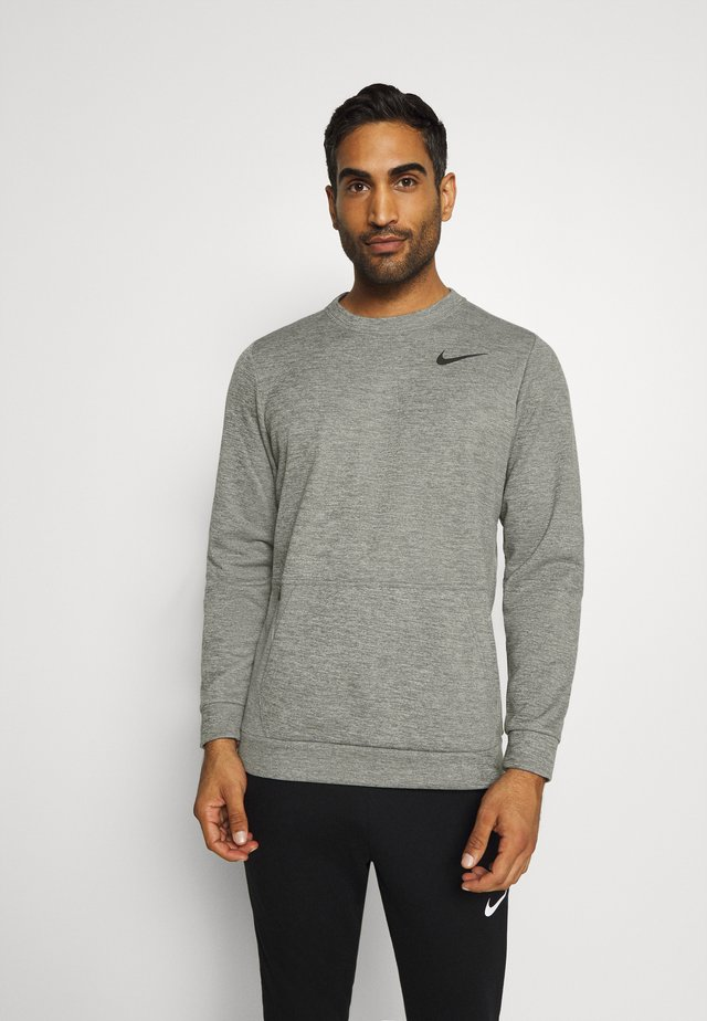 CREW STANDARD FIT - Felpa - dark grey heather/black