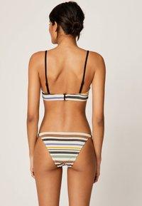 OYSHO - MIT GUMMIBUND UND STREIFEN - Bikini bottoms - off-white - 2