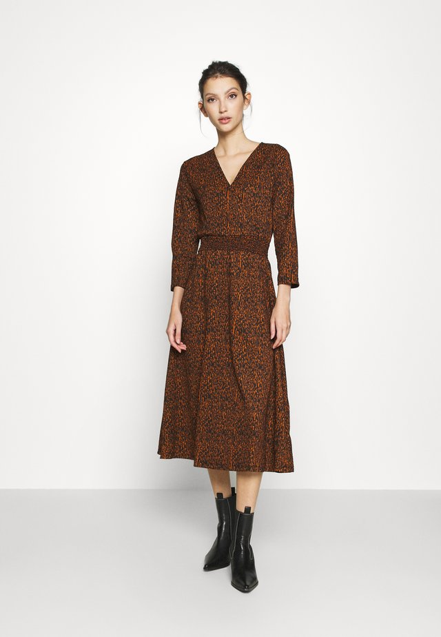 ONLZILLE FIXED DRESS - Day dress - rust