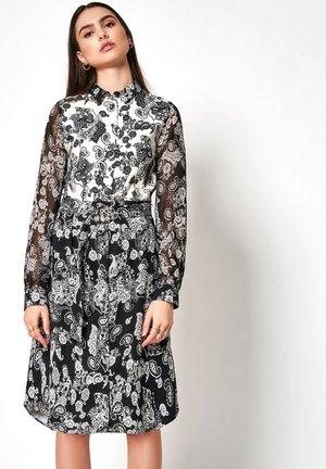Shirt dress - white/dark blue