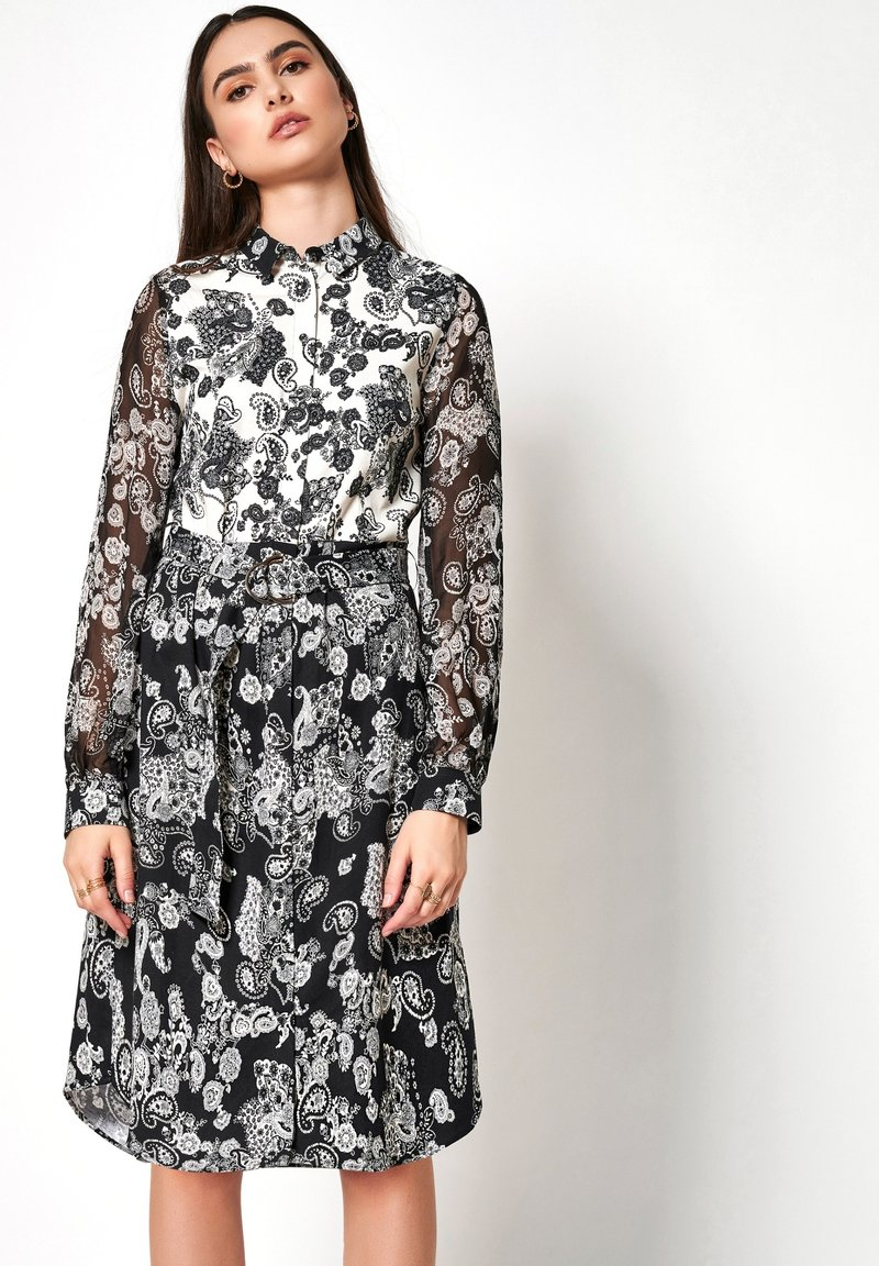 DESOTO - Shirt dress - white/dark blue