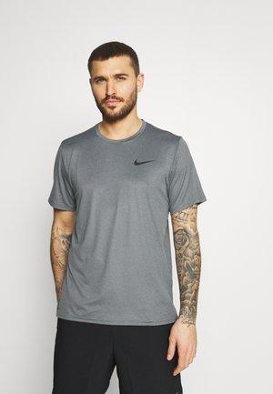 Camiseta básica - black/smoke grey/heather/black