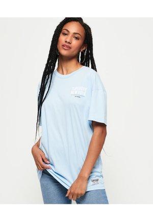 Print T-shirt - icelandic blue
