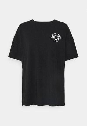 PCSAVE OVERSIZED TEE - T-shirts print - black nature