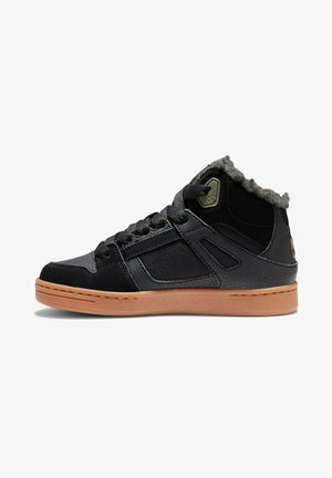 High-top trainers - black/olive