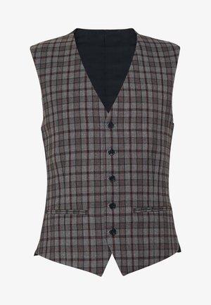HERITAGE OVERCHECK WAISTCOAT - Waistcoat - grey