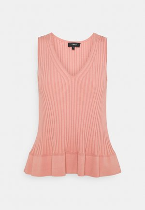 FLARED RIB TANK - Top - guava