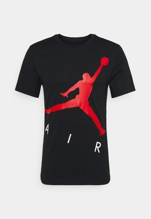 JUMPMAN AIR CREW - Print T-shirt - black/gym red