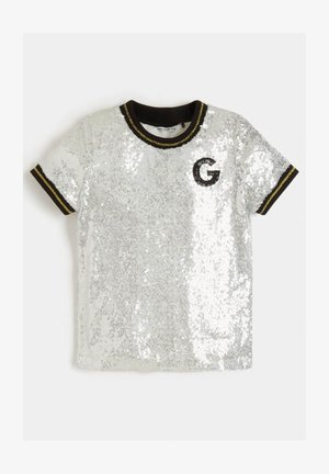Print T-shirt - silber