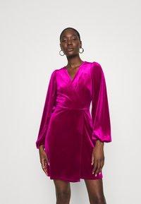 Closet - WRAP OVER MINI DRESS - Cocktail dress / Party dress - pink - 0