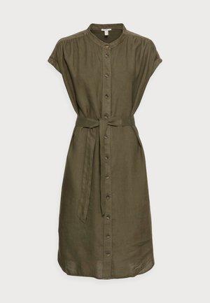 DRESS - Shirt dress - khaki green