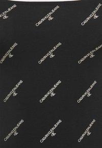 Calvin Klein Jeans - LOGO SQUARE NECK BODY - Camiseta de manga larga - black - 2