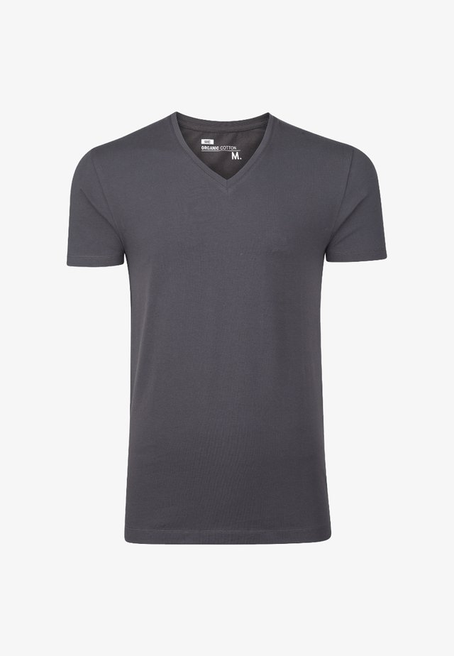 HERREN-BASIC T-SHIRT - T-shirts basic - blended dark grey